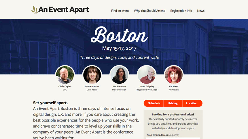 Photo of Save $100 on An Event Apart 2-3 Day Design Conference Pass