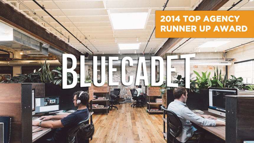 Photo of Top Agency Runner Up Bluecadet takes home the inaugural award in this year's competition